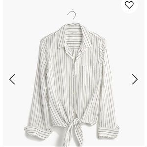 Madewell Tie-Front Button Down